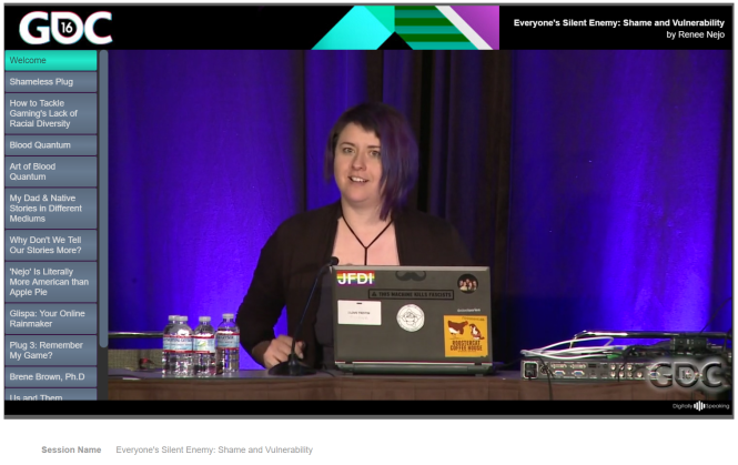 Renee Nejo's talk at GDC
